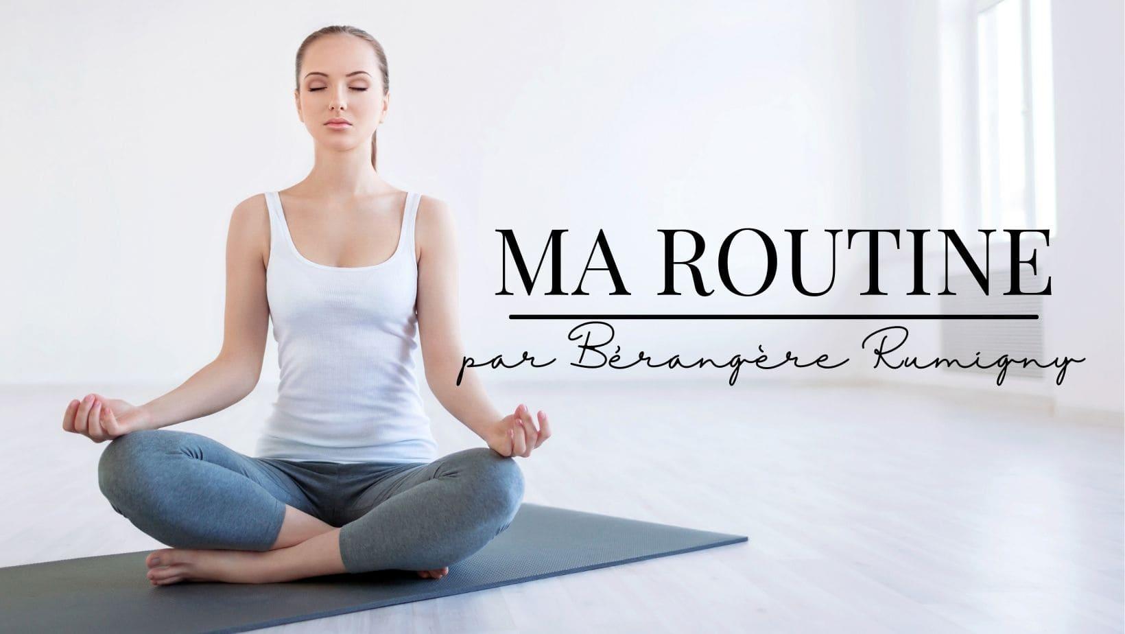 Bérangère Rumigny vous partage chaque semaine sa routine bien être pour être bien dans son corps, détendue, avoir de l'énergie, gagner en puissance, au sein de son cabinet de solesmes, près de Le cateau